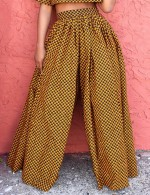 Summer Print High Waist Casual Wide Leg Pants
