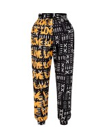 Brightly Ankle Length African Pattern Pants Pocket Women's Fashion