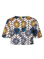 Best Price Exotic Print Top Round Collar Cheap Online Sale