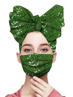 Dramatic Exotic Print Headscarf Anti-Dust Mask Splendid Look