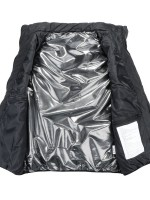 Black Button Heated Sleevless Jacket Solid Color For Camping