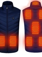 Blue 8 Heating Zones Electric Heated Clothing On-Trend Fashion
