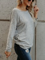 Slimming Gray Backless Knot Full Seeve T-Shirt For Every Occasion