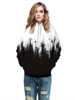 Delicate Hooded Couple Sweatshirt Large Size Chic Fashion