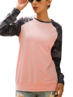 Simply Chic Pink Crew Neck Long Sleeve Sweatshirt Going Out Outfits