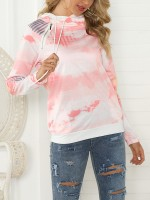 Versatile Pink Big Size Pullover Shirt Stacked Collar Women Outfits