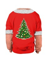 Simply Xmas Printed Couple Sweatshirt Patchwork Ladies