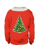 Voguish Contrast Color Xmas Couple Sweatshirt All Over Smooth