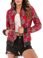 Fancinating Flower Print Full Sleeve Jacket Women's Apparel