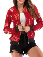 Brightly Jacket Colorblock Zipper Side Pockets All-Match Fashion
