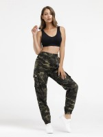 Sophisticated High Waist Running Pants Full Length Modern Fashion