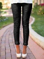 Simply Chic Black Pants Ankle Length Straight Leg Feminine Fashion