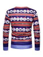 Invigorative Christmas Sheep Printing Male Blouse Cheap Online Sale