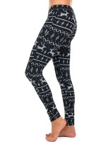 Multi-Function Xmas Ankle Length Leggings High Rise Casual Wear
