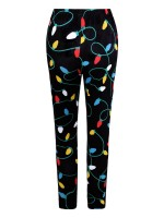 Bright Christmas Print Leggings High Rise Fashion Clothing Online