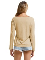 Shimmer Khaki V Collar Full Sleeve Baggy Shirt Elegance