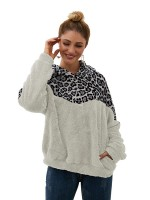 Glamorous White Contrast Color Full Sleeve Sweater Modern Fashion