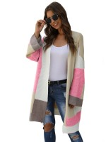 Relaxing Pink Full Sleeve Cardigan Midi Length Superior Comfort