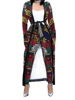 Snazzy Red 2 Pieces Long Sleeve Cardigan Suit Female Charming