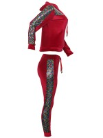 Vogue Red Two Pieces Patchwork High Waist Womens Designer Clothing