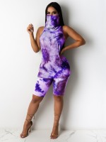 Particularly Purple Hip Length Vest High Rise Leggings Female Grace