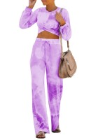 Splendor Tie-Dyed Shirt Wide Leg Pants Super Faddish