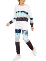 Tie-Dyed 2 Piece Outfits With Drawstring Cheap Online Sale