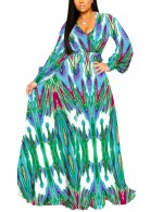 African Print Plus Size Dress