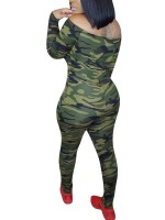 Enthralling Camo Pattern One Shoulder Jumpsuit For Female