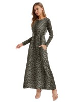 Loose Long Sleeve Maxi Dress Plus Size Holiday