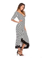 Irresistible White Open Back High-Low Hem Maxi Dress For Camping