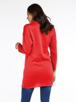 Super Faddish Red Drop Shoulder Mini Dress Full Sleeve Super Sexy