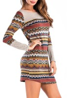 Dramatic Contrst Color Mini Dress Full Sleeves Women's Essentials