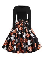 Simplicity Skater Dress Long Sleeves Swing Hem For Fashion