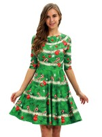 Fabulous Fit Mom Kid Skater Dress Digital Print Tailored Quality