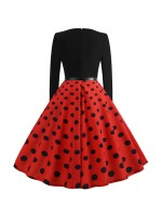 Fabulously Zipper Back Skater Dress Swing Hem Fashion Essential