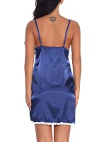 Beautiful Blue Adjustable Straps Babydoll Open Back Close Style