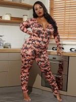 Plus Size Long Sleeve Sleepwear Jumpsuit Cheap Wholesale