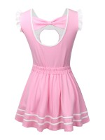 Intrigued Light Pink Hollow Out Teddy A-Line Mini Skirt Allover Comfortable