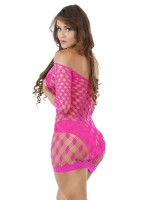 Galore Rose Red Hollow Teddy Open Back Solid Color For Woman Fashion