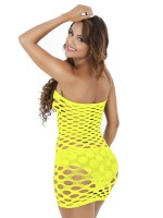 Pretty Yellow Backless Teddy Solid Color Mini Length For Cutie