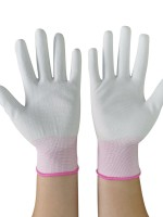 Fitted Pink 10 Pieces Non-Slip Nylon Gloves