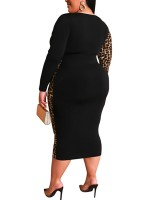 Comfortable Yellow Deep V Neck Plus Size Bodycon Dress Chic Trend