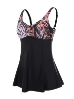 Mystic Large Size Tankini Set Contrast Color Beachwear