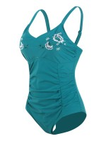 Sultry Lake Blue Adjustable Strap Big Size Beachwear Women Outfits