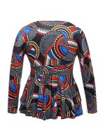 Lavish African Print Plus Size Shirt V Neck Superior Comfort