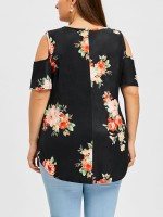 Enviable Black Cross Strap Top Plus Size Curved Hem Under The Sun