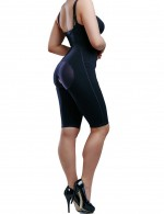 Thigh Length Plus Size Shapewear Bodysuit Zipper Butt Lift