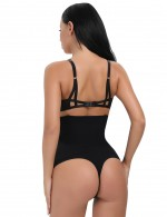 High-Waisted Black Slimming Belly Panty 4 Plastic Bones