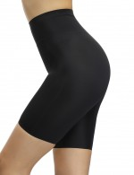 Desirable Designed Black Butt Enhancer Mid-Thigh Shorts High Rise